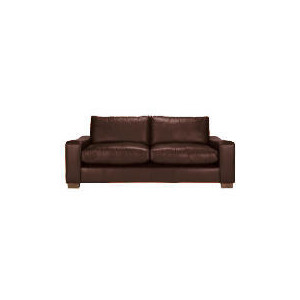 Photo of Finest Dakota Made To Order Large Leather Sofa, Antique Furniture
