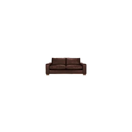 Finest Dakota Made to Order large Leather Sofa, Antique