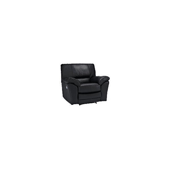 Madrid Leather Recliner Chair, Black