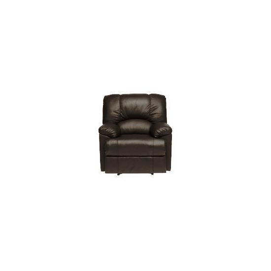 Harlowe Leather Recliner Chair, Black