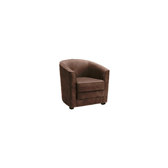 Miami Fabric Chair, Brown
