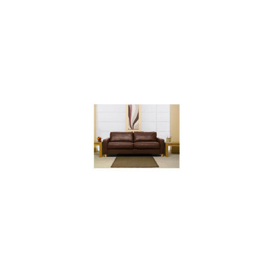 Italy large Leather Sofa, Brown