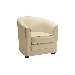 Photo of Miami Leather Chair, Ivory Furniture