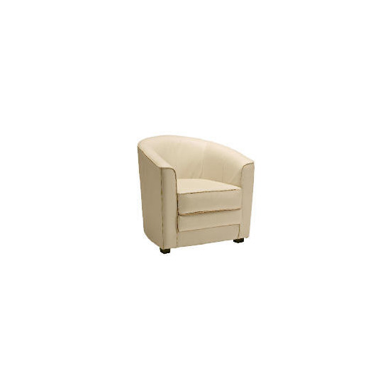 Miami Leather Chair, Ivory