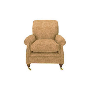 Photo of Finest Bloomsbury Made To Order Club Jacquard Chair - Gold Furniture