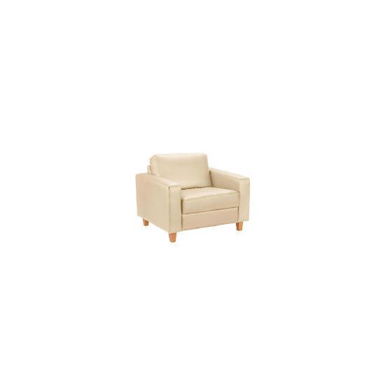 Italy Leather Chair, Ivory