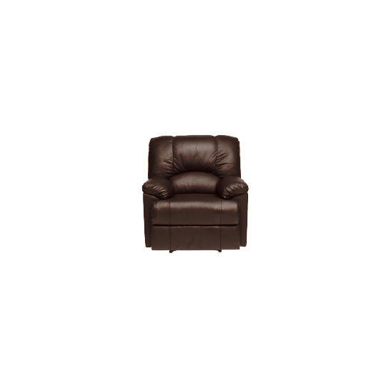 Harlowe Leather Recliner Chair, Brown