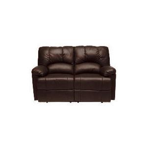 Photo of Harlowe Leather Recliner Sofa, Brown Furniture