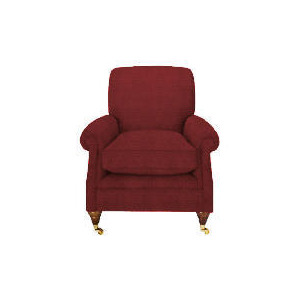 Photo of Finest Bloomsbury Made To Order Club Lattice Chair, Claret Furniture