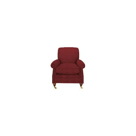 Finest Bloomsbury Made to Order Club Lattice Chair, Claret