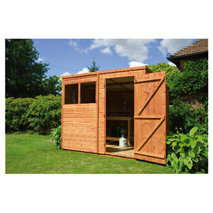 Photo of Walton 8' X 6' Wooden Shiplap  Pent Shed Shed