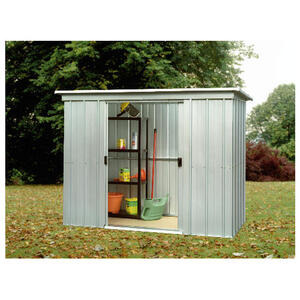 Photo of Yardmaster 6' X 4' Metal Pent Shed Shed