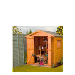 Walton 4' x 6' Wooden Shiplap Apex Double Door Shed Reviews