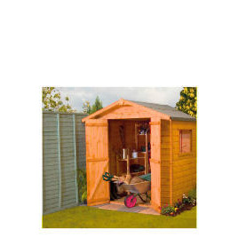 Walton 4' x 6' Wooden Shiplap Apex Double Door Shed Reviews