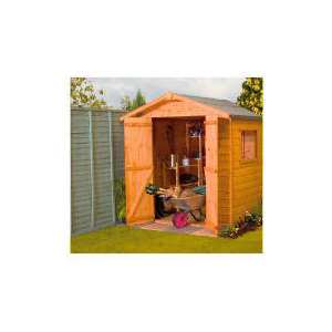 Photo of Walton 4' X 6' Wooden Shiplap Apex Double Door Shed Shed