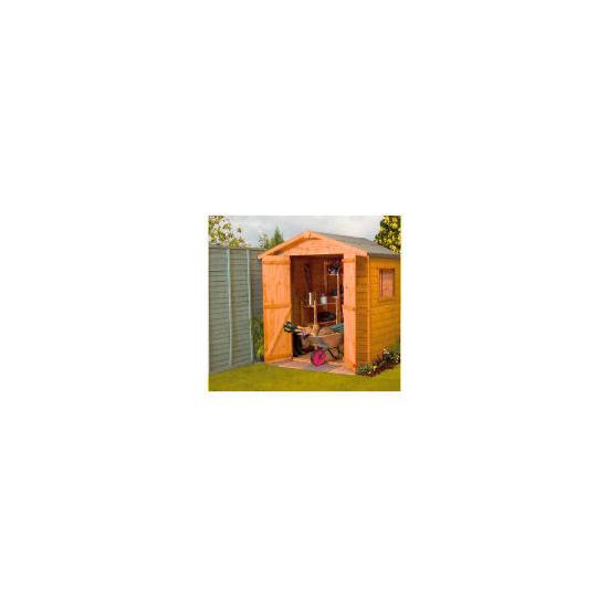 Walton 4' x 6' Wooden Shiplap Apex Double Door Shed