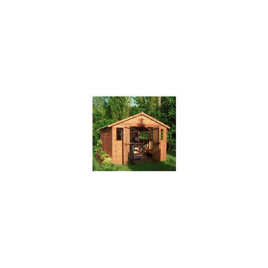 Walton 12' x 10'  Wooden Apex Shiplap Workshop Shed