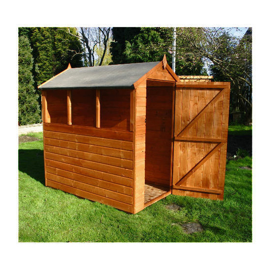 Walton 6x4 Wooden Shiplap Apex Shed
