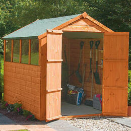 Walton 8' x 6' Wooden Shiplap  Apex Shed Reviews