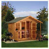 Photo of Walton 10' X 8' Wooden Summerhouse With Veranda Shed