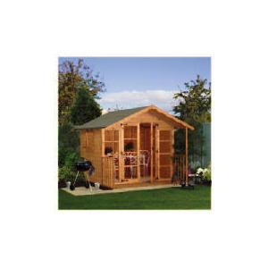 Photo of Walton 10' X 8' Wooden Summerhouse With Veranda Shed