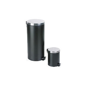 Photo of Tesco 30L and 5L Black Pedal Bin Set Bin