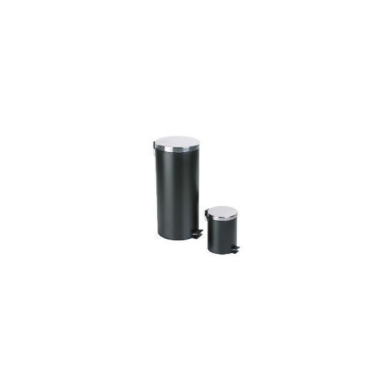 Tesco 30L and 5L black pedal bin set