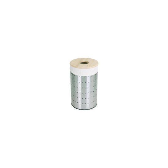 Tesco 60L Stainless steel laundry bin wooden lid