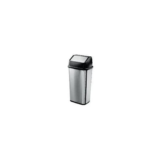 Tesco Stainless steel flip top bin 50L