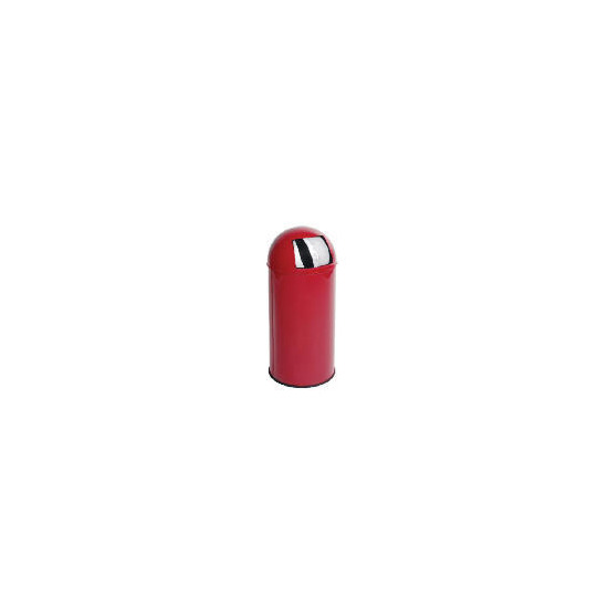 Tesco 30L colour coating push bin red