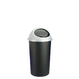 45L Bullet bin with easy flip lid black and silver Reviews