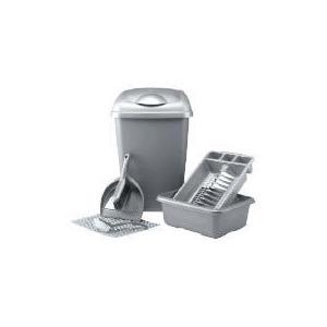 Photo of Kitchen Set Silver 6 Piece Kitchen Accessory