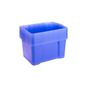 Photo of Tesco 30L Storage Boxes Blue 6 Pack Household Storage