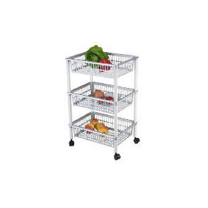 Photo of Tesco 3 Tier Trolley Silver Household Storage