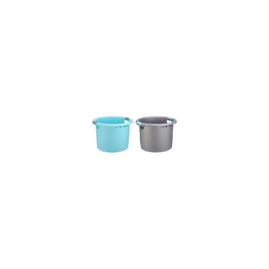 Tesco Uni Tub Silver & Aqua 2 pack