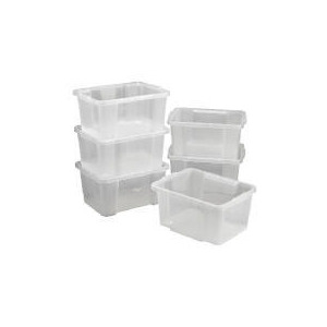 Photo of 6 Pack 30L Stack & Stores Clear Household Storage