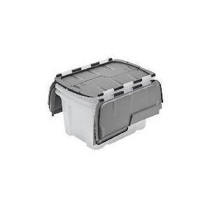 Photo of Tesco 40L Flip Lid Box 3 Pack Household Storage