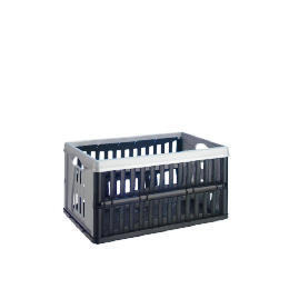 Tesco 60L Folding Crate silver and black Reviews