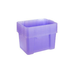 Photo of Tesco 6 Pack 30 L Storage Boxes Lilac Household Storage