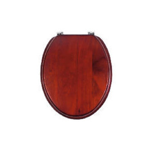 Photo of Solid Pine Toilet Seat Dark Finish Home Miscellaneou