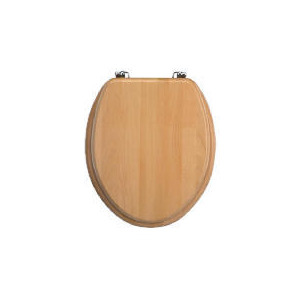 Photo of Solid Beech Toilet Seat Bathroom Fitting