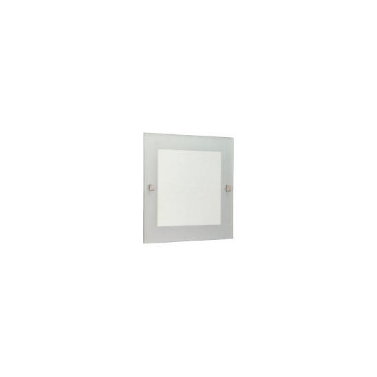 Square Mirror with Frosted Edge