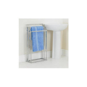 Photo of Chromed 3 Tier Towel Stand Bathroom Fitting