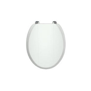 Photo of Maine White Wood Toilet Seat Bathroom Fitting