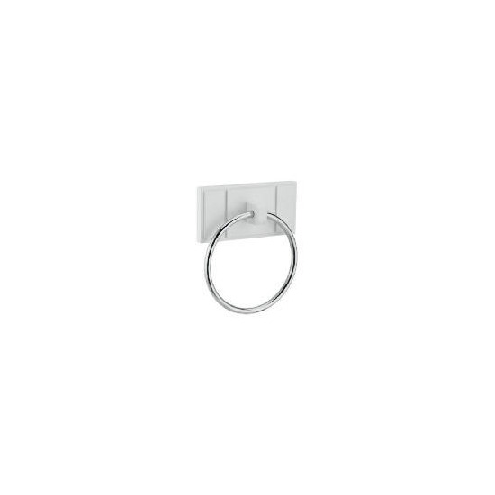 White Wood Wall Mounted Towel Ring