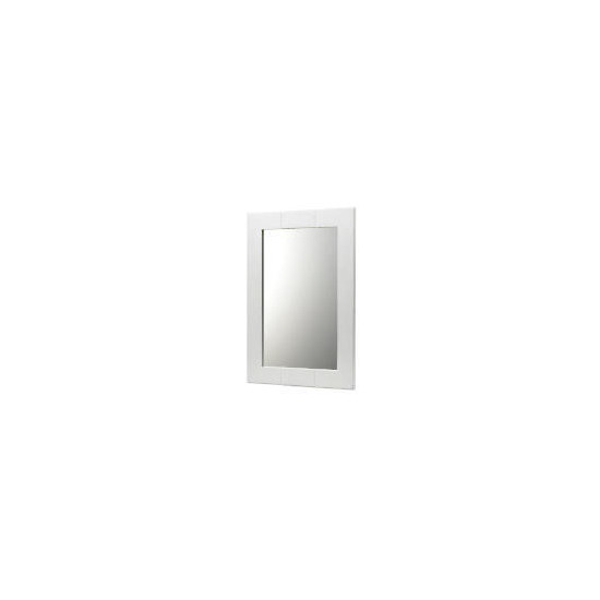 White Wood Wall Mounted Mirror