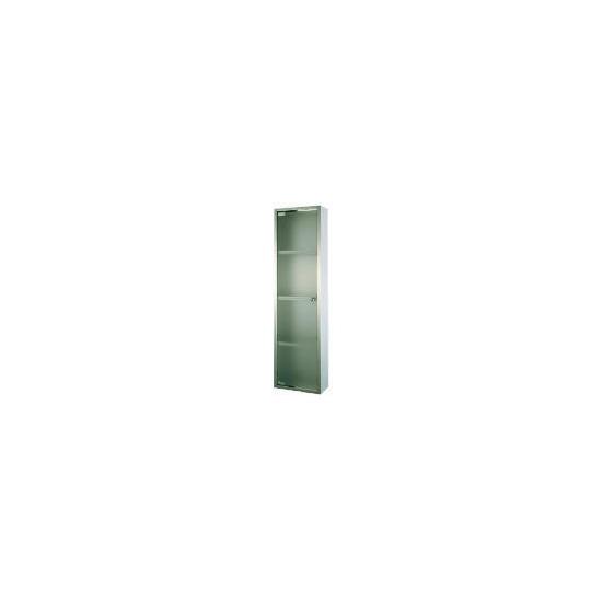 Stainless Steel 4 Tier Frosted Glass Door Bathroom Cabinet