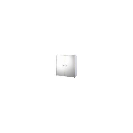 Stainless Steel Mirrored Double Door Bathroom Cabinet