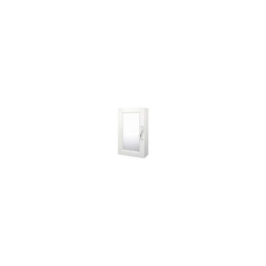 Brampton White Wood Single Door Cabinet with Swirl Handle