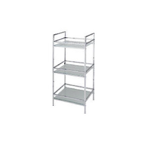 Photo of Chrome 3 Tier Spa Unit With Glass Shelves Household Storage